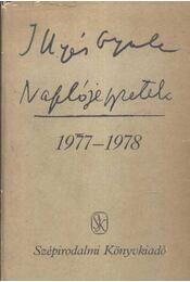 Naplójegyzetek 1977-1978 - Régikönyvek