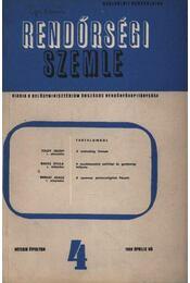 Rendőrségi szemle 1959. április - Régikönyvek