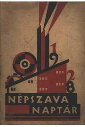 Népszava Naptár 1928 - Régikönyvek