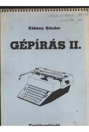 Gépírás II. - Régikönyvek