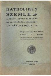 Katholikus szemle 1930. január 1. füzet - Régikönyvek