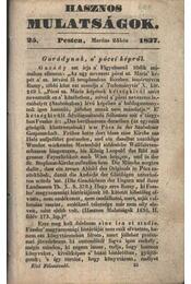 Hasznos mulatságok 1837/25. szám - Régikönyvek