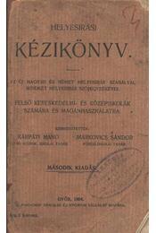 Helyesírási kézikönyv - Régikönyvek