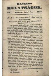 Hasznos mulatságok 1837/46. szám - Régikönyvek