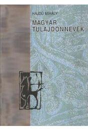Magyar tulajdonnevek - Régikönyvek