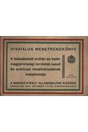 Hivatalos mentrendkönyv - Régikönyvek