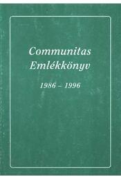 Communitas Emlékkönyv 1986-1996 - Régikönyvek