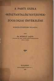 A parti ászka mésztartaléktestjeinek zoologiai értékelése - Régikönyvek