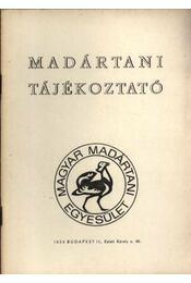 Madártani tájékoztató 1979. január-március - Régikönyvek