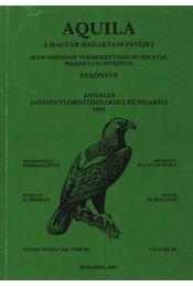 Aquila évkönyv 1991. (98.sz) - Régikönyvek
