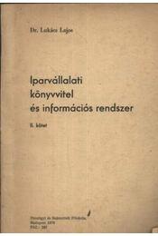 Iparvállalati könyvvitel és információs rendszer II. kötet - Régikönyvek