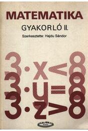 Matematika gyakorló II. - Régikönyvek