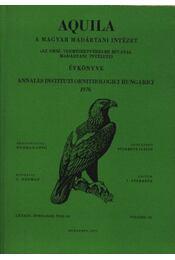 Aquila évkönyve 1976. LXXXIII. évfolyam 83. sz. - Régikönyvek