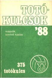 Totókulcsok '88 375 totókulcs - Régikönyvek