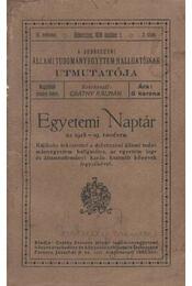 Egyetemi Naptár az 1918-19. tanévre - Régikönyvek