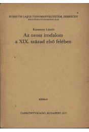 Az orosz irodalom a XIX. század első felében - Régikönyvek