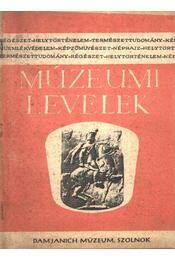 Múzeumi levelek 27. sz. - Régikönyvek