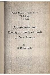 A Systematic and Ecological Study of Birds of New Guinea - Régikönyvek