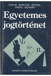 Egyetemes jogtörténet II. - Régikönyvek