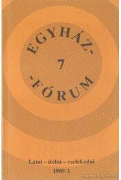 Egyházfórum 1989/1. - Régikönyvek