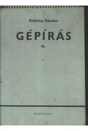 Gépírás III. - Régikönyvek