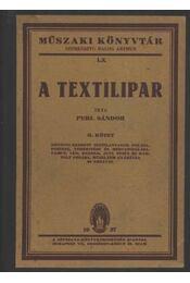 A textilipar II. kötet - Régikönyvek