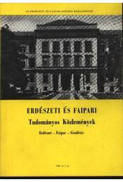Erdészeti és faipari Tudományos közlemények 1981. év 2. sz. - Régikönyvek