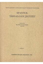 Spanyol társalgási jegyzet - Régikönyvek