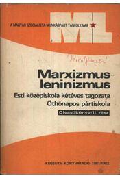 Marxizmus-leninizmus - Régikönyvek