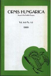 Ornis Hungarica 1999. Vol. 8-9. No. 1-2. - Régikönyvek