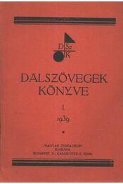 Dalszövegek könyve I. - Régikönyvek