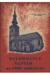 Református naptár az 1980. szökőévre - Régikönyvek
