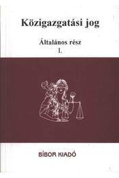 Közigazgatási jog - Régikönyvek