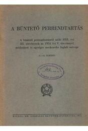 A büntető perrendtartás - Régikönyvek