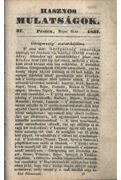 Hasznos mulatságok 1837/37. szám - Régikönyvek