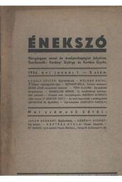 Énekszó 1934/3. sz. - Régikönyvek