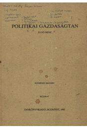 Politikai gazdaságtan I-II. - Régikönyvek