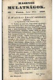 Hasznos mulatságok 1837/52. szám - Régikönyvek