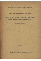 Bevezetés az irodalomelméletbe és az irodalomtudományba - Régikönyvek