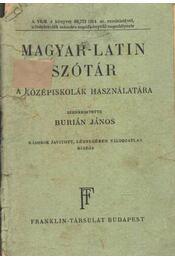 Magyar-latin szótár - Régikönyvek