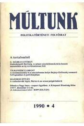 Múltunk 1990-4 - Régikönyvek