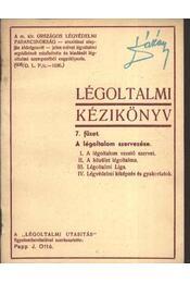 Légoltalmi kézikönyv 7. füzet - Régikönyvek