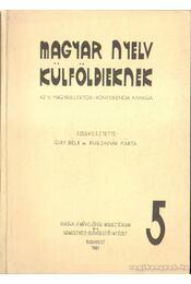 Magyar nyelv külföldieknek - Régikönyvek