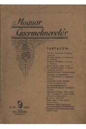 Magyar Gyermeknevelés III. Évf. 9. sz. 1937. - Régikönyvek
