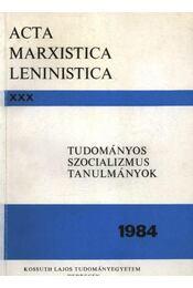 Tudományos szocializmus tanulmányok 1984. - Régikönyvek