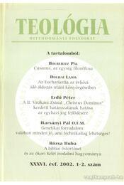 Teológia  XXXVI. évf. 1-2. évf. - Vanyó László - Régikönyvek