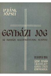 Egyházi jog - Régikönyvek