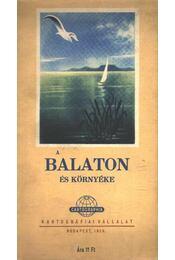 A Balaton és környéke (térkép) - Régikönyvek