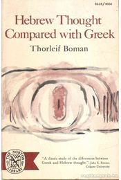 Hebrew Thought Compared with Greeks - Régikönyvek