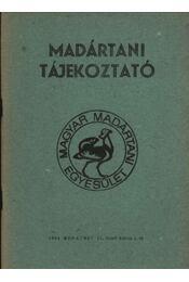 Madártani tájékoztató 1984. október-december - Régikönyvek